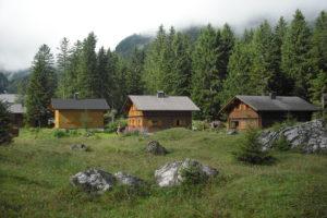 Holzhaus, Bergwald, regionales Holz